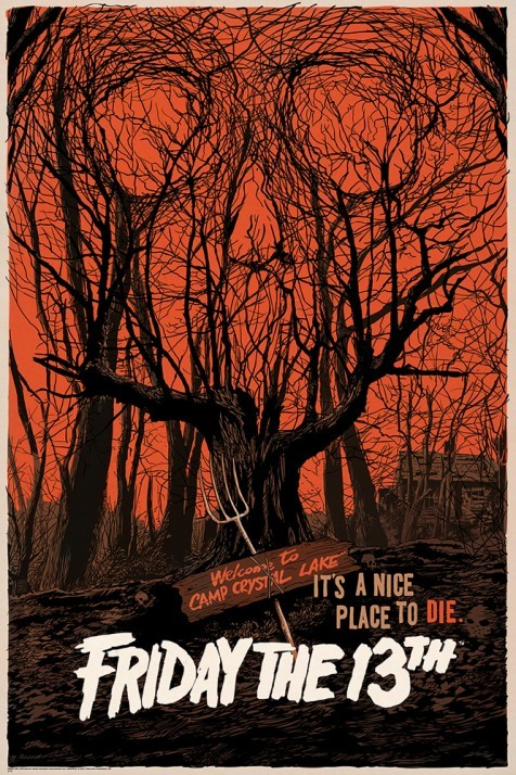 Friday The 13th alternative movie poster designed by Francesco Francavilla