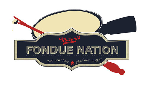 FONDUE NATION.  1. A celebration of our fondue obsession. 2. The world's largest fondue party at all Murray's locations on 12/15, 2-6pm. 3. A contest where you can win a cheesy vacation (or staycation) to NYC. Fondue Nation. One Nation Melting Cheese.