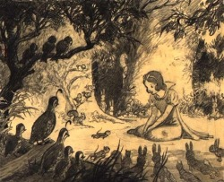 scurviesdisneyblog:  Snow White - With a Smile and a Song Concept Art