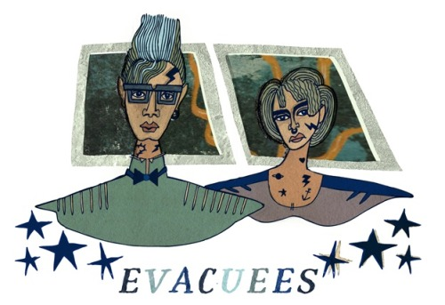 "TUMBLR! I have a story in Paper Darts called ""Evacuees.""  IT IS ILLUSTRATED by Meghan Murphy, in the best possible way. look at those guys up top! amazing!"
