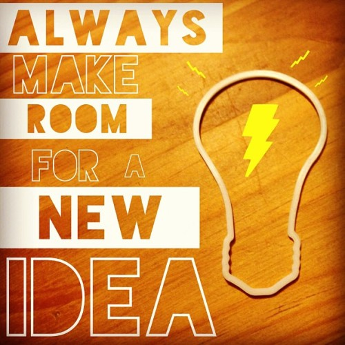 Always make room for a new idea.  #madewithover