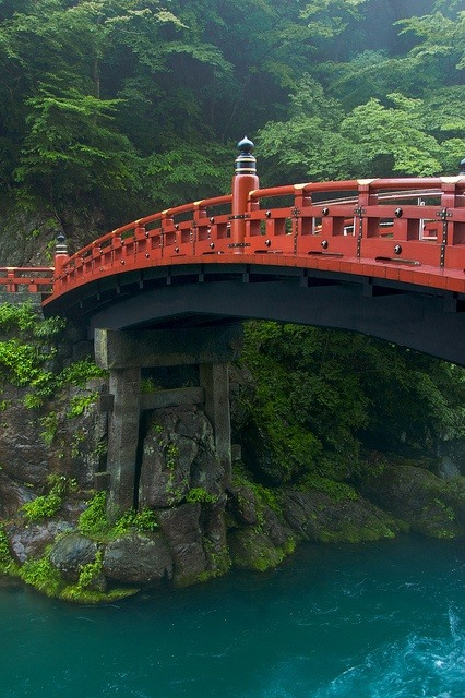 Sacred Bridge, Nikko, Japan photo via nicole