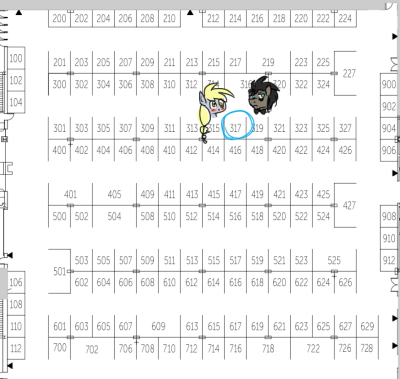 jitterbugjive:  I'll be at 317 at Bronycon, selling prints and buttons and possibly a few other things. Things to expect to find: -Discord Whooves (This includes the Master) -Lovestruck Derpy -Crapplejack -General Pony Stuff  Nothing sold at the table will be over PG in content rating. I might do some sketchbook commissions at the table, but that depends on how busy things get. Side notes: I'll be perfectly happy signing stuff if people ask. I don't mind photos and hugs as long as they don't interfere with the table. I'm okay with maybe the occasional voice request since I do the Derpy voice, but please don't overdo it, I'd like to keep it short so I don't get worn out. I have 3 other people helping me at the table, so I might not be there at all times since I might also be in a panel (I'm a part of 4 different panels) Panels you will find me: Grimdark: Ponies and Horror, Comics 101, Doctor Whooves and Assistant, and a Character Psychology panel (Not sure what the name is right now) Regarding gifts: I am aware some people might want to give me gifts at the table as well, such as fan art or pony merch, which I am perfectly happy to accept. Hint: My 3 favorite ponies are Twilight Sparkle, Doctor Whooves, and Derpy. I collect Twilight Sparkle the most, though. I'll offer 2$ off if you bring me a Twilight Sparkle blindbag (Limit one discount, but you're welcome to throw multiples at me so I might commence a ton of squealing and love) See you all at Bronycon!