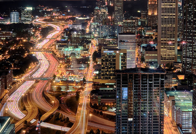 imagestorehouse:  Atlanta at night