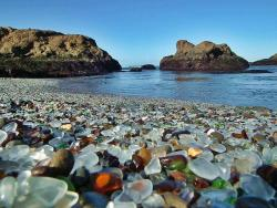 world-widee:  Glass Beach in Fort Bragg, California