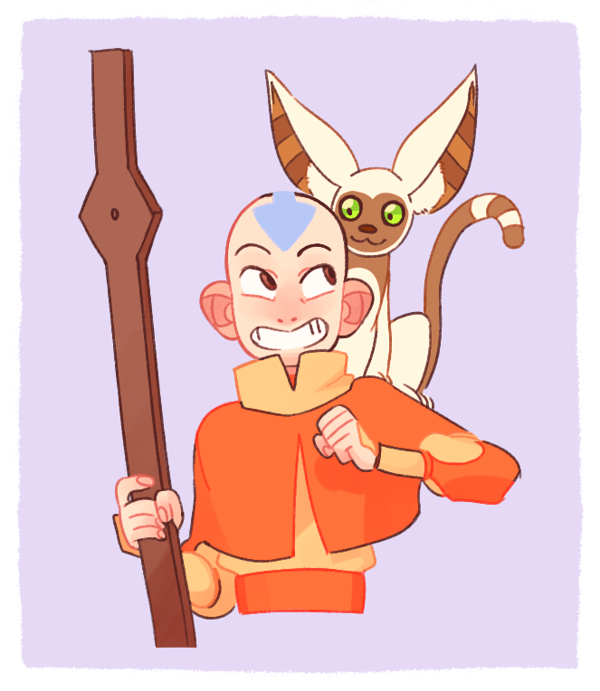 Avatar Aang With Hair: Who's This Douchebag, Aang With Hair Doesnt Get Enough