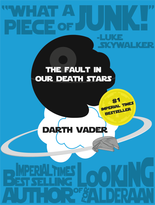 "poweredbyawesome:  ""The Fault in our Death Stars"" So I had this idea ages ago, but I never really got started on it.Earlier this month, I finally did and it turned out great! :DSo I'm saving this graphic for May 4th, but now I find out #thefaultinourdeathstars is already a thing?!? Oh well. I guess there's little point in keeping it from you, then… Anyway, I was on a roll, so this also happened:"