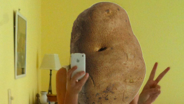 Selfie Potato! I had to do it.  (in case you haven't seen it http://www.youtube.com/watch?v=yDnlvDqKvQs)