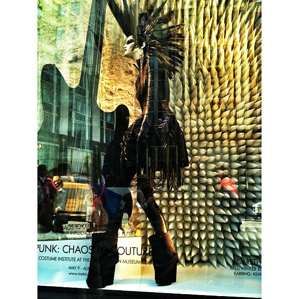 bergdorfgoodman:  Another #bgwindows preview: Gareth Pugh goes punk. (at Bergdorf Goodman)