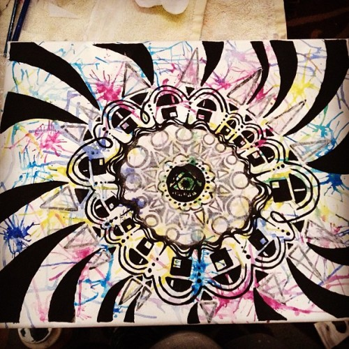 Tonight's work! #painting #art #mandala