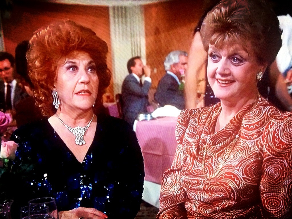 "bonniegrrl:  Mrs. Garrett & Mrs. Fletcher in sequins on ""Murder, She Wrote!"" Take 2 Drinks!  Amazing."