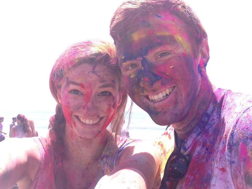 So we got colorful at Holi