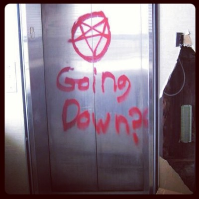 Ha ha awsome!!! #goingdown #hell #satan