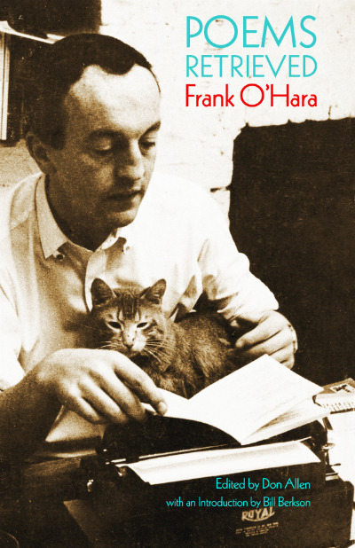 "The retrievals that Donald Allen made of Frank O'Hara's poems began in 1968 with his sorting through the manuscripts of poetry and prose in cartons and files that Kenneth Koch took away for safekeeping in two suitcases from Frank's loft at 791 Broadway the night in July, 1966, after Frank died––the nearly 700 items that first Kenneth and I and then Frank's sister Maureen and her husband at the time Walter Granville-Smith subsequently photocopied a few weeks later. Together with the versions already published in books, magazines and anthologies, these manuscripts formed the textual basis for what Donald Allen––Don, as I came to know him as a neighbor in Bolinas in the 1970s––would call, when it first appeared, in 1971, ""the splendid palace known asThe Collected Poems of Frank O'Hara."" A pared-down volumeThe Selected Poems of Frank O'Hara, also edited by Don, came out in 1974, followed the next year by the book of uncollected prose, Standing Still and Walking in New York. It was in the latter book that Don first used the term ""retrieved."" —an excerpt from the Introduction by Bill Berkson to Poems Retrieved, Frank O'Hara."