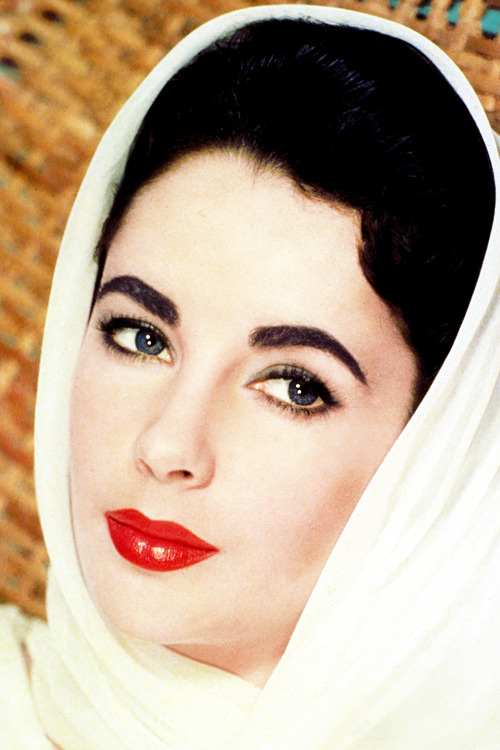 Elizabeth Taylor in a promotional photo for Giant (1956)
