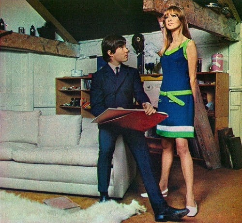 ladiesofthe60s:  Pattie Boyd in a Seventeen fashion spread, March 1966.
