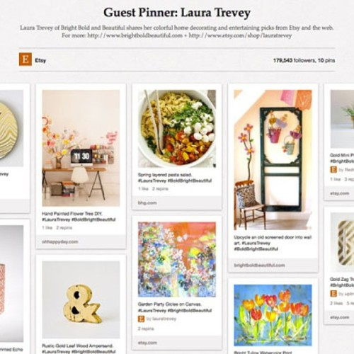 Excited to be a Guest Pinner for #Etsy today featured on the @Etsy blog