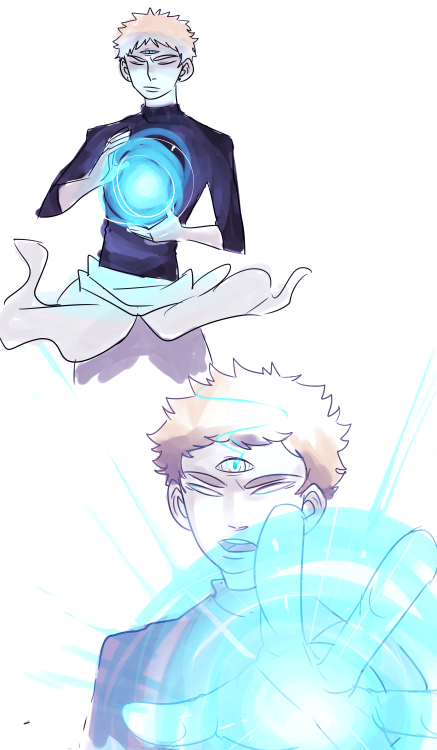 doodles of Shai and his s celestial-ish powerrsss #shai#my oc#my art