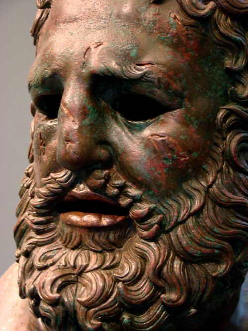 curiousgraffiti:  By Zeus  Face of The Boxer of Quirnal, a Hellenistic sculpture from c.330 BC. Played a major role in Thom Jones' The Pugilist at Rest (which you should read if you haven't already).
