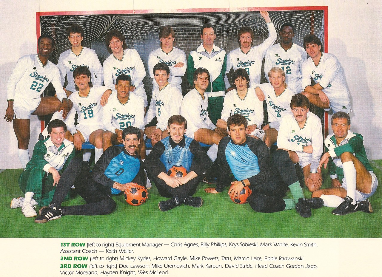 The 1986-87 Dallas Sidekicks of the MISL.