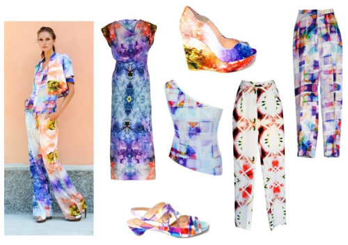 IN LOVE WITH: HILDA MAHA S/S13 COLLECTION… I love the bright graphic and cosmic prints of Hilda Maha's S/S13 collection- especially the wedges and the dress. The fabrics are hand-made, and these designs will be sure to attract attention. For stockist info, visit www.hildamaha.com.