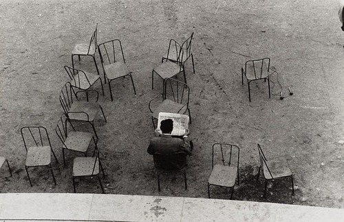 There are days I prefer reading, not people. Image: Lewis Morley, Luxembourg Gardens, Paris, 1958