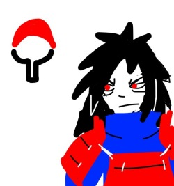 I tried to draw Madara in Draw Something -__- I don't have enough coins or stars to buy more colors or patterns…