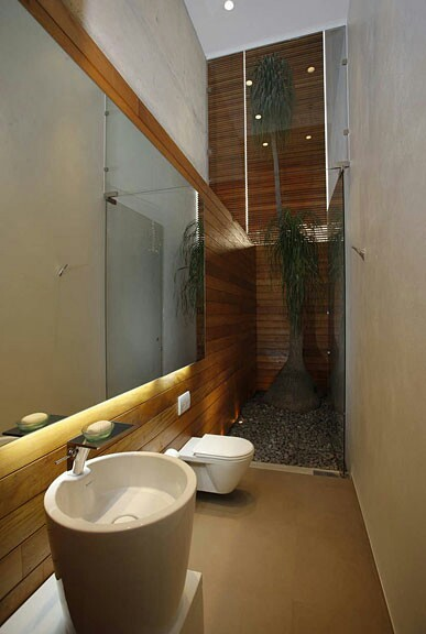 A stylish bathroom