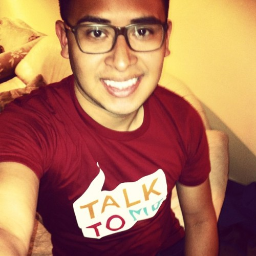 Just me. New Shirt. #talktome #theTrevorProject trevortalktome.org. The Trevor Project is the leading national organization providing crisis intervention and suicide prevention services to LGBTQ youth.