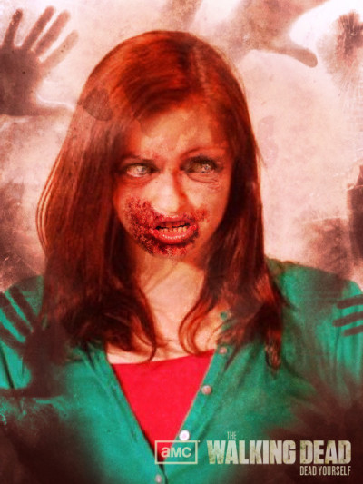 so this happened. me as a zombie. wooo but actually if the zombie apocalypse happened i would def kill myself.