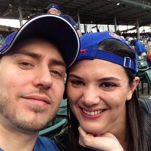 Me and my punk ass other half at the cubbies!! Love life enjoy every moment!!