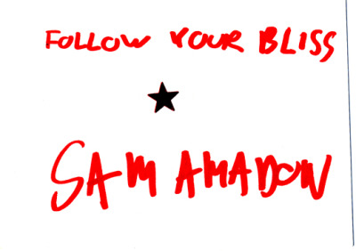 A line of advice from, yup, Sam Amadon.