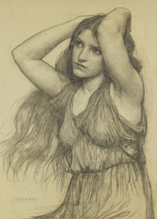 "arcadiaart:  John William Waterhouse, ""Flora""."