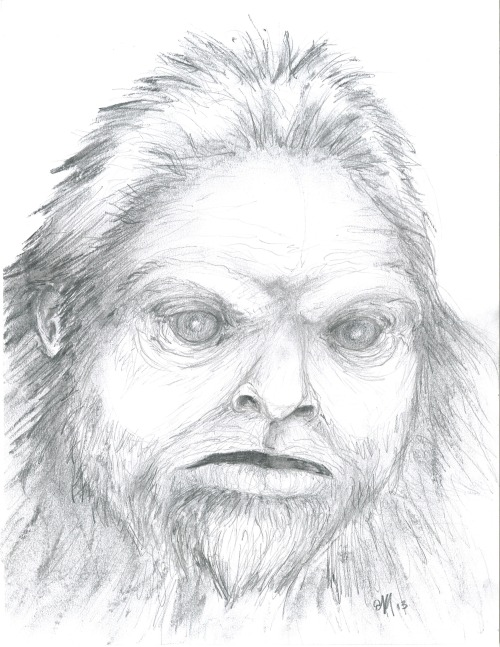 Quick sketch done during the Pennsylvania episode of Finding Bigfoot…wish I had time to do more of this kind of thing!