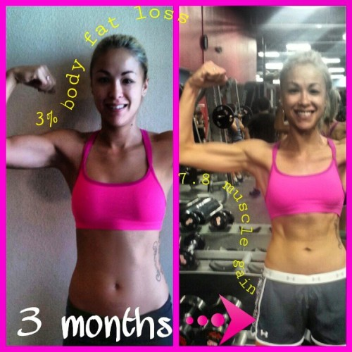 joshuasladder:  My friend from Dallas. Gym + Herbalife + her attitude = killer results.