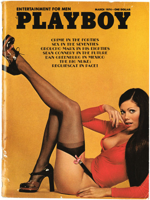 mysterygirlvintage:  Playboy; March 1974  Cover Model: Debbie Shelton • Photo by Stan Malinowski