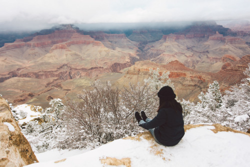 Grand Canyon in winter time.