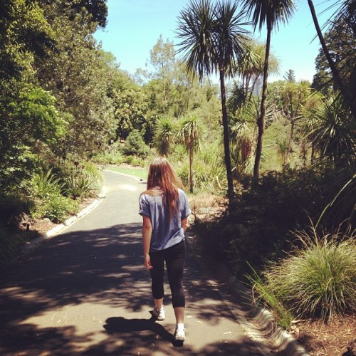Walkies with ma at the botanical gardens ☀🌴