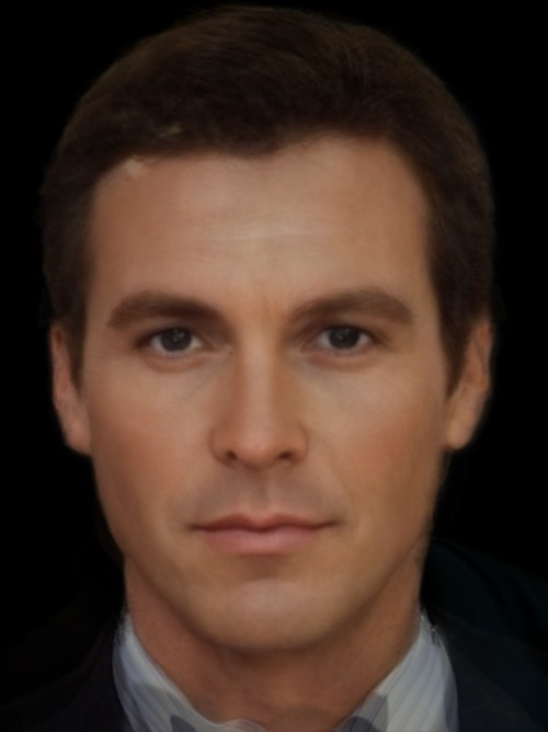 "The ""real"" Bruce Wayne. A photo-composite of Adam West, Michael Keaton, Val Kilmer, George Clooney, and Christian Bale"