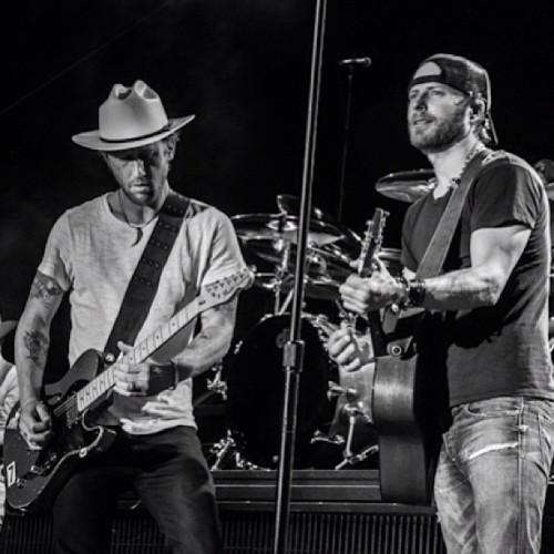 "via @shifty71 | Sitting in with Dierks & Co. on ""Walk Thru This World With Me"" at Stagecoach!!"