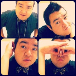 Being silly before class. #me #fashion #fierce #leopard #print #bowtie #ohmylanta #yesss #schoolboy #ai #hair #silly #random #bored