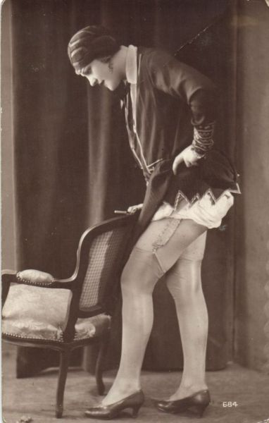 The Show Off~  1920s risque postcard