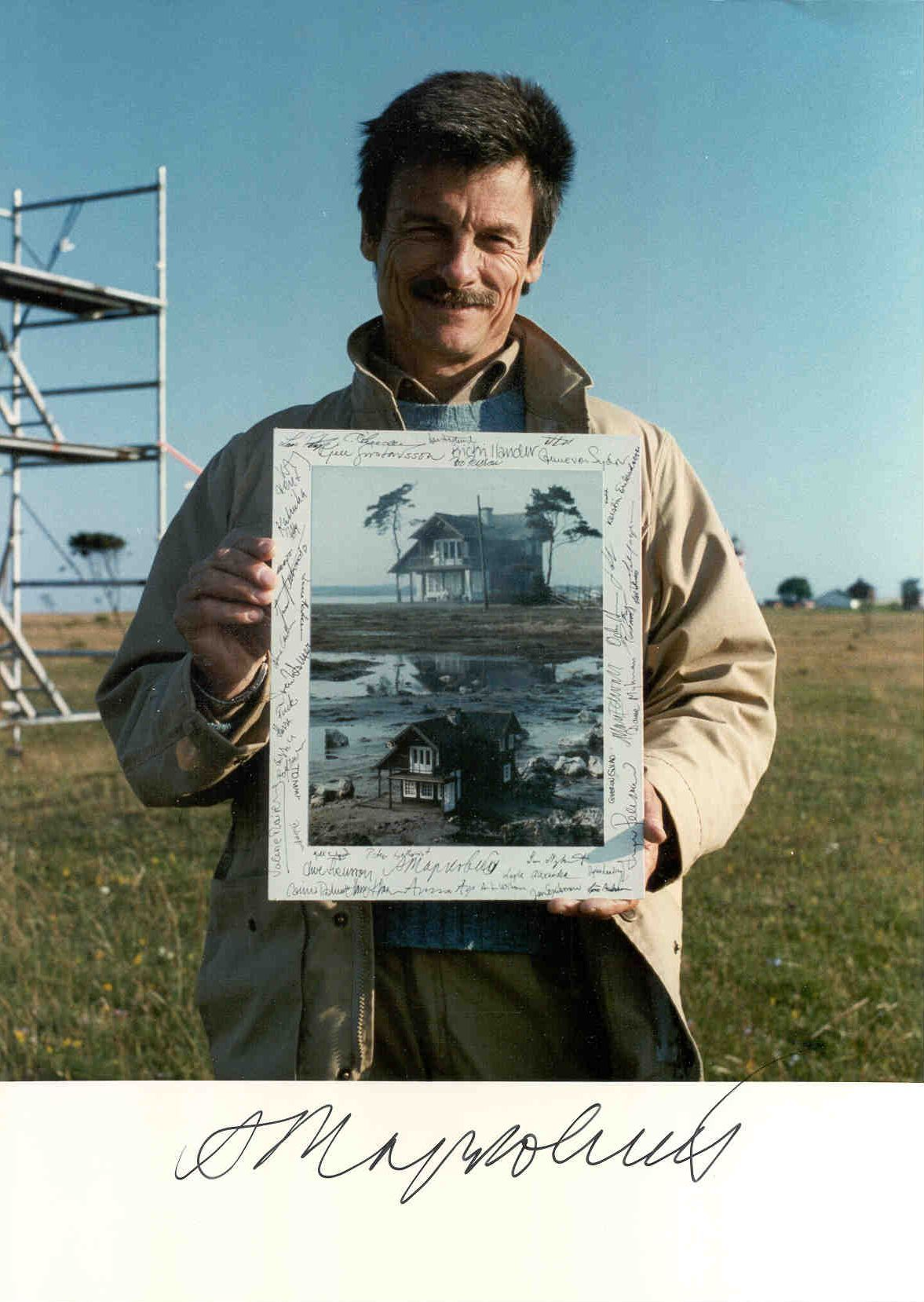 Andrei Tarkovsky on the film set of Offret (The Sacrifice)