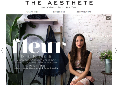 we are so grateful to the aesthete for the lovely feature! stop by their awesome site and check it out…