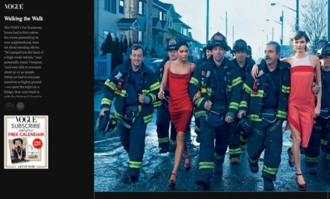 "Vogue publishes fashion spread ""celebrating Hurricane Sandy's first responders,"" offends pretty much everyone."