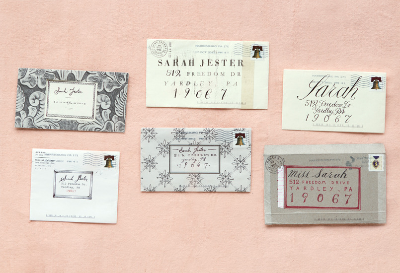 The Art of the Love Letter : Individually hand- penned letters with a very lovely backstory to boot from Terrain