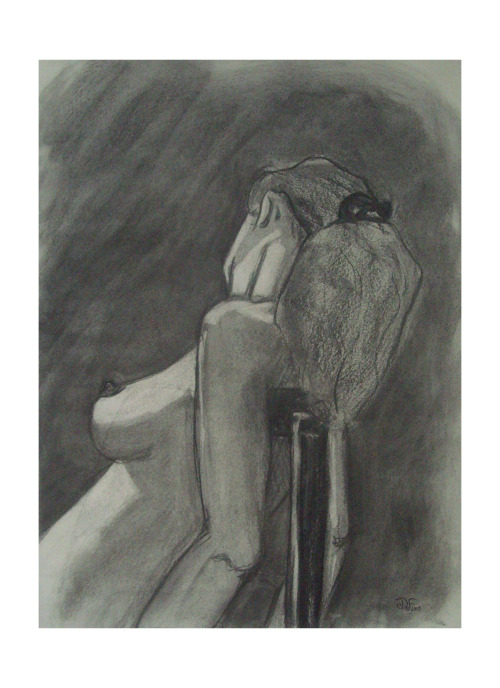 Fusain  - 2001 (Charcoal)by David Flandrois
