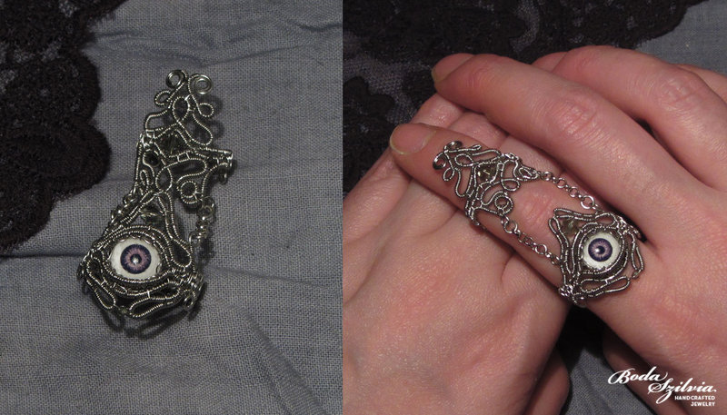 talefinder:  (via Evil eye armor ring by *bodaszilvia on deviantART)