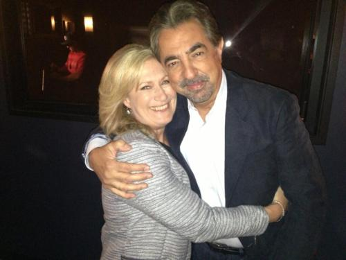 "Picture Perfect… #JayneAtkinson and @JoeMantegna on the set of #CriminalMinds 8x23, ""Brothers Hotchner""."