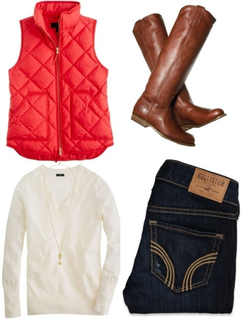OOTD—-Last minute shopping by southernbelle featuring a merino wool shirt ❤ liked on PolyvoreJ.Crew merino wool shirt / Hollister Co. hollister co / Kate Spade hand crafted jewelry